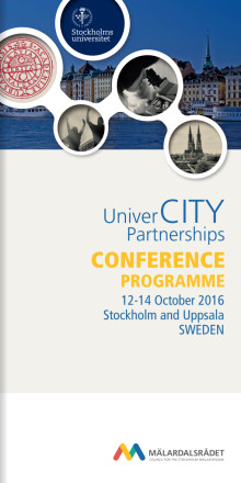 PROGRAM: UniverCITY Partnerships konferens 12-14 oktober, Stockholm and Uppsala