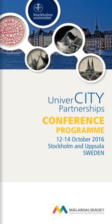 PROGRAM: UniverCITY Partnerships konferens 12-14 oktober, Stockholm and Uppsala