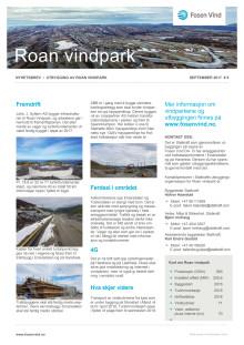 Nyhetsbrev Roan vindpark #5 - 2017