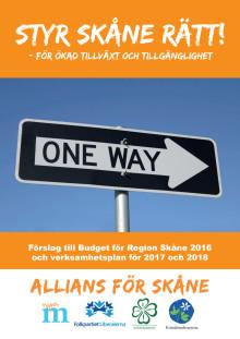 Budget Allians för Skåne 2016