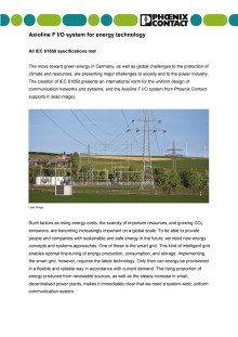 Axioline F I/O system for energy technology