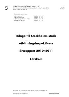 Årsrapport förskolan 2011. Bilaga