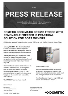 Dometic CoolMatic CRX65D Fridge with Removable Freezer is Practical Solution for Boat Owners