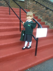 First day of school means the world to family of girl born 5 weeks prematurely