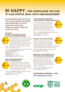 Inbjudan till fem seminarier om bin, 7 juli, Visby