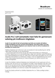 Audio Pro i nytt samarbete med Telia för gemensam satsning på multiroom-högtalare