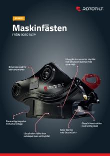 Produktblad Rototilt maskinfäste