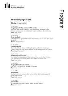 Program SFI-mässan 2016