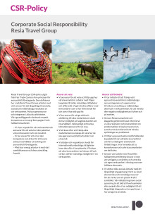 Resia Travel Group CSR-policy