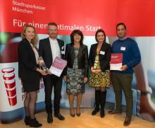 Stadtsparkasse München zeichnet zwei Münchner StartUps mit dem Münchner Gründerpreis 2017 aus