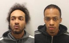 Two men jailed after being caught red-handed with a loaded gun and large knife