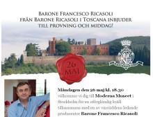 Exklusiv provning med Barone Ricasoli & Bengt Göran Kronstam!