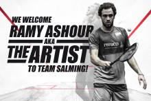 Ramy Ashour - The Artist - signs with Salming!