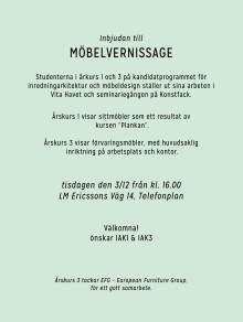 Vernissage för samarbetet mellan EFG och Konstfackselever