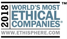 L'Oréal anerkendes for 9. gang som en af Verdens Mest Etiske Virksomheder af Ethisphere Institute