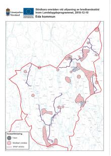 Karta med stödbara områden