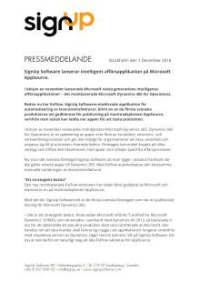 Pressmeddelande - SignUp Software lanserar intelligent affärsapplikation på Microsoft AppSource