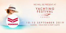 Yanmar is at Cannes Yachting Festival - Stand QML 356  (Quai Max Laubeuf) at Vieux Port and SAIL 080 at Port Canto