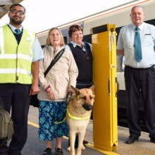 Station employees praised after rescuing guide dog