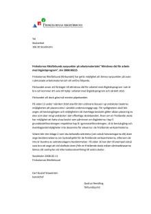 Remissvar allmänna råd för arbete med åtgärdsprogram
