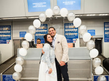 Groom surprises bride with a little help from London Luton Airport