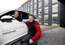 Quality Hotel Frösö Park satsar på körupplevelser med motorsportstjärna