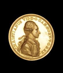 Sjælden guldmedalje fra 1700-tallet på auktion