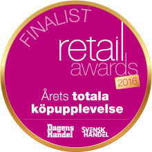 NESPRESSO FINALISTER I RETAIL AWARDS I KATEGORIN 'ÅRETS TOTALA KÖPUPPLEVELSE'