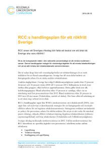 RCCs handlingsplan för ett rökfritt Sverige