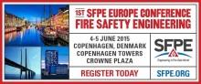 Briab talar på brandskyddskonferensen SFPE i Köpenhamn