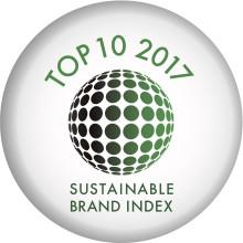 Andra plats i livsmedelskategorin och en sjätteplats totalt i Sustainable Brand Index 2017