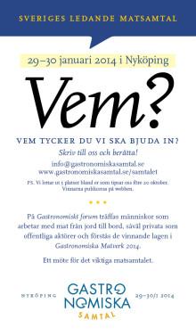 Vem tycker du vi ska bjuda in till Sveriges ledande matsamtal?