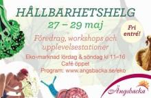 Downshifta, lev giftfritt och uppnå högre livskvalité! Hållbarhetshelg med marknad på Ängsbacka, 27-29 maj