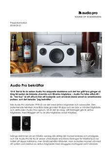 Audio Pro bekräftar
