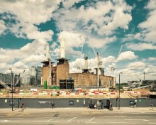Finishing touches for iconic Battersea Power Station chimneys