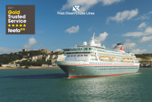 Fred. Olsen Cruise Lines receives Feefo's 'Gold Trusted Service Award', for the fourth year running