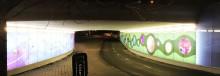 Tunnelbelysning och konst i samspel