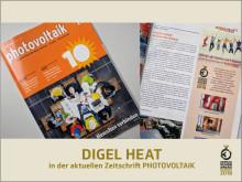 DIGEL HEAT in der Zeitschrift PHOTOVOLTAIK