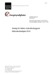 Uppdragsplan, strategi för hållbar vindkraftsutbyggnad