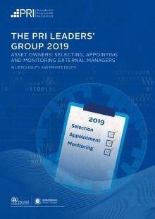 The PRI Leaders' Group 2019 Report