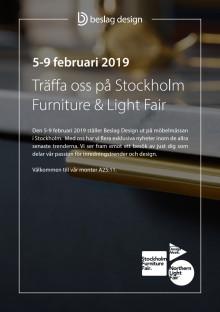 Träffa oss på Stockholm Furniture & Light Fair