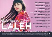 Laleh släpper extra biljetter till turnén Kristaller