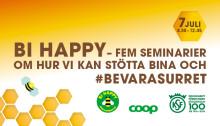 BI HAPPY - fem seminarier om bin i Almedalen torsdag 7 juli