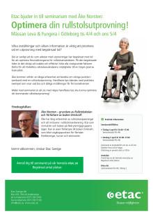 """Inbjudan till seminarium """"Optimera din rullstolsutprovning"""" - Leva & Fungera i Göteborg"""