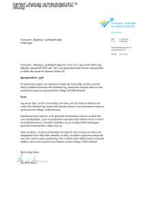 Spørgsmål til transportministeren