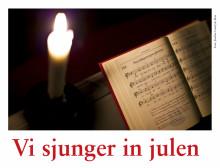Körer sjunger in julen i Lindesbergs kyrka