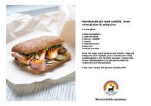 Recept: Morotsmättare med rostbiff, riven champinjon & saltgurka
