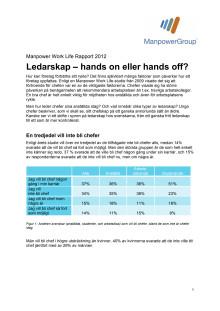 Ledarskap - hands on eller hands off?