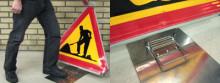 Fällbar vägskyltning förbättrar trafiksäkerheten