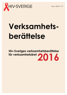 Hiv-Sveriges verksamhetsberättelse 2016